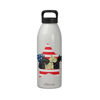 Wheaten & Black Scottish Terriers Reusable Water Bottle