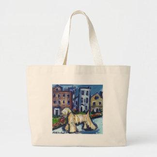 wheaten City Dog Large Tote Bag