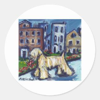 wheaten City Dog Round Sticker