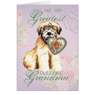 Wheaten Heart Grandma Card