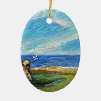 Wheaten Ocean Breeze Christmas Ornament