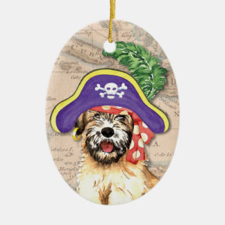 Wheaten Pirate Christmas Ornament
