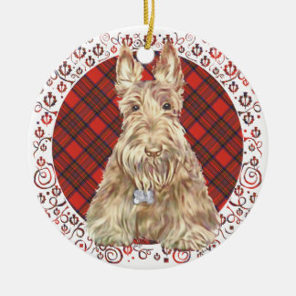 Wheaten Scottie Tartan Christmas Ornament