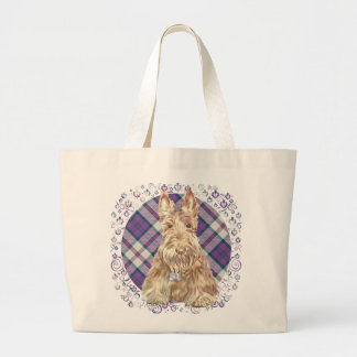 Wheaten Scottie Tartan Jumbo Tote Bag