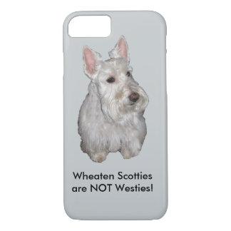 Wheaten Scotties are NOT Westies! Grey background iPhone 7 Case