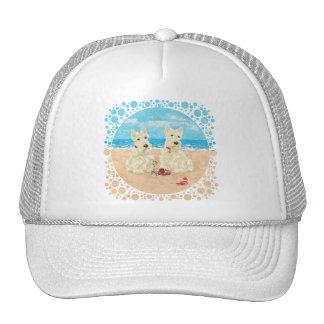 Wheaten Scotties at the Beach Hat