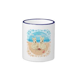 Wheaten Scotties at the Beach Mug