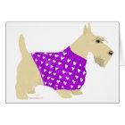 Wheaten Scottish Terrier Sweater Card