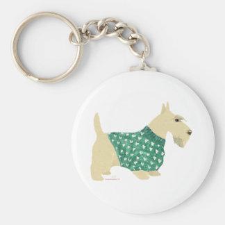 Wheaten Scottish Terrier Sweater Keychain