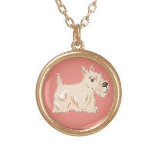 Wheaten Scottish Terrier Warm Peach Necklace