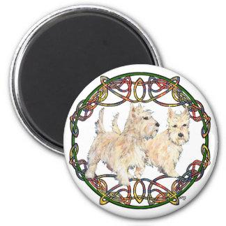Wheaten Scottish Terriers 6 Cm Round Magnet