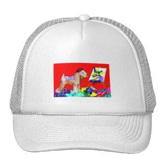 Wheaten Terrier Artist  (Red Bkgd) Cap