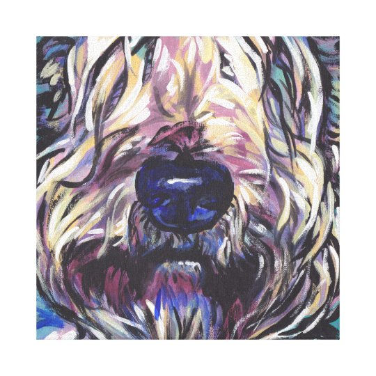 wheaten terrier bright colourful pop dog art canvas print