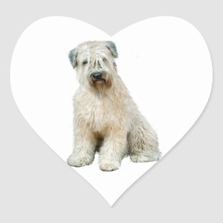 Wheaten Terrier (C) Heart Sticker
