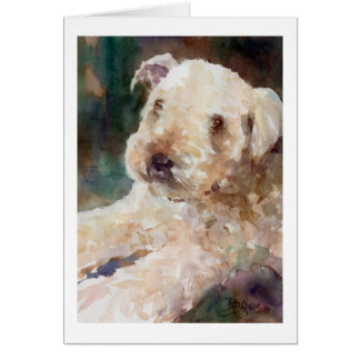 Wheaten Terrier Card