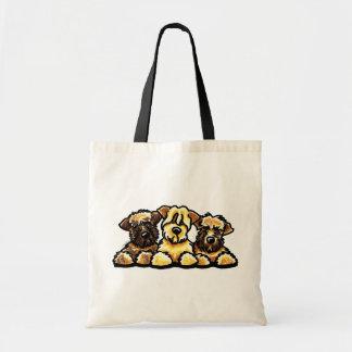 Wheaten Terrier Trio Budget Tote Bag