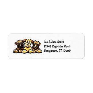 Wheaten Terrier Trio Return Address Label