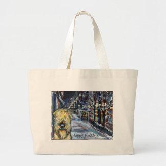 Wheaten Winter Xmas scene Bags