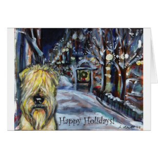 Wheaten Winter Xmas scene Card