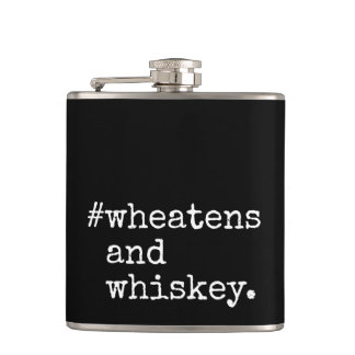 Wheatens and Whiskey Hip Flask