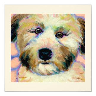 Wheatens Mean Business - fun dog art cards