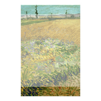 Wheatfield by Vincent Van Gogh 14 Cm X 21.5 Cm Flyer