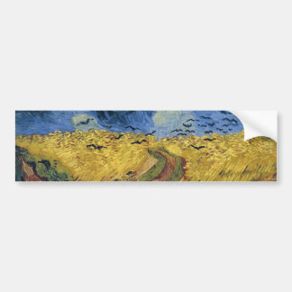 Wheatfield with Crows (F779) Van Gogh Fine Art Bumper Sticker