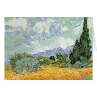 Wheatfield with Cypresses, 1889 Greeting Card