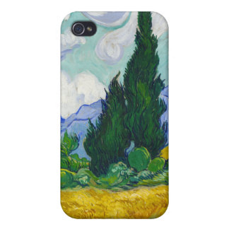 Wheatfield with Cypresses, Vincent Van Gogh Case For The iPhone 4