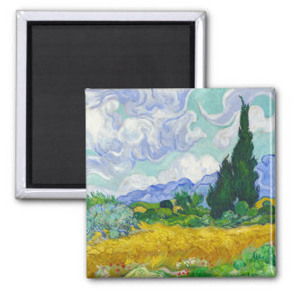 Wheatfield with Cypresses Vincent Van Gogh Refrigerator Magnet