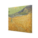 Wheatfield with Reaper, 1889 Canvas Print