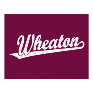 Wheaton script logo in white distressed full color flyer