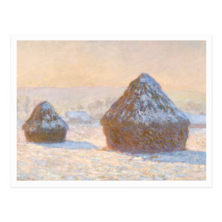 Wheatstacks by Claude Monet Postcard