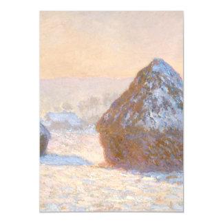 Wheatstacks, Snow Effect, Morning Magnetic Invitations