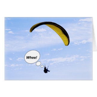 Whee! Paragliding in the Clouds Blank Card