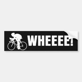 WHEEE Bicycle Bumper Sticker