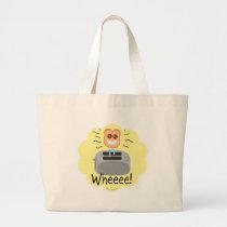 Wheeee! happy Toast! Large Tote Bag
