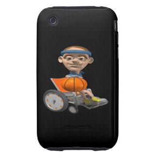 Wheel Chair Basketball Tough iPhone 3 Cover