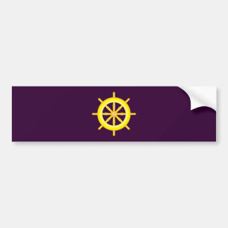 Wheel Dharma wheel Bumper Sticker