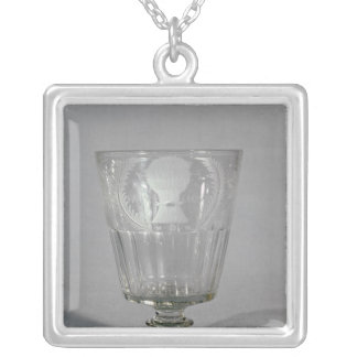 Wheel-engraved goblet, c.1800-25 silver plated necklace