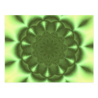 Wheel in green postcard