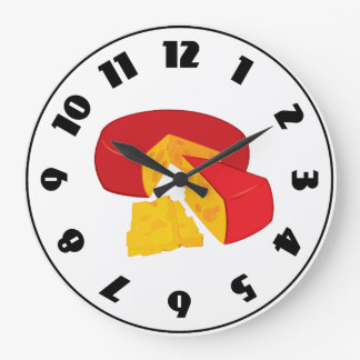 Wheel Of Cheese Clock