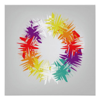 Wheel of colors poster