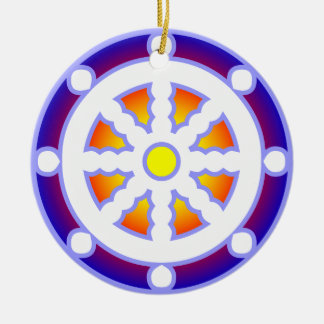 Wheel of Dharma Christmas Ornament