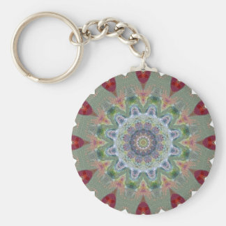 Wheel of fortune basic round button key ring