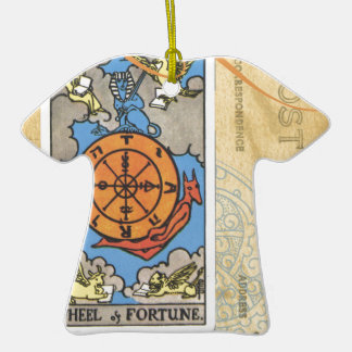 Wheel Of Fortune Postcard Tarot Card Vintage Ceramic T-Shirt Decoration