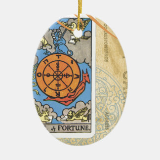 Wheel Of Fortune Postcard Tarot Card Vintage Ceramic Oval Decoration
