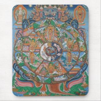 Wheel of Life Mandala Mousepad