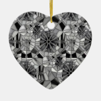 Wheel of Life (Stained Glass) Ceramic Heart Decoration