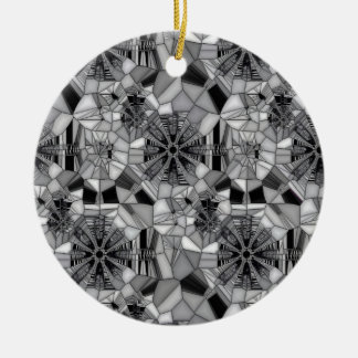 Wheel of Life (Stained Glass) Round Ceramic Decoration
